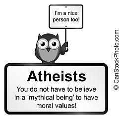atheist, persone