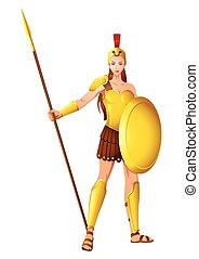 athena, den, visdom gudinde