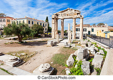 Athena Gate, Roman Agora - The Gate of Athena Archegetis is...