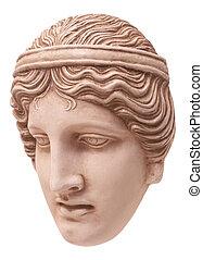 Athena mask - Greek traditional mask three-quarters
