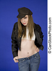 Athena - Model Release 374 Teenage girl displaying an...