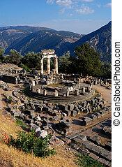 Athena Pronaia Sanctuary at Delphi, Greeece - The Tholos at...