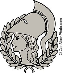athena. second variant. vector illustration