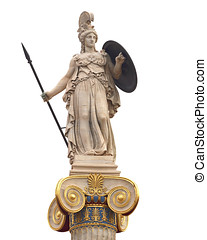 Athena statue, goddess of philosophy and wisdom