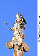 Athena statue in the Academy of Athens ,Greece