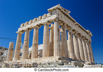 Athena's Parthenon at sky background