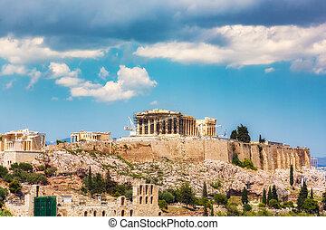 athene, acropolis, griekenland