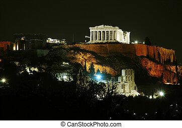 Acropolis - Athens Acropolis at night