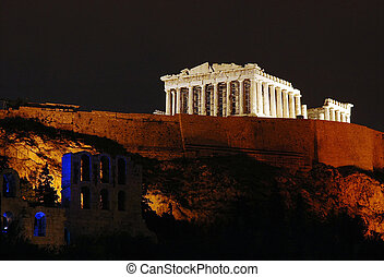 Acropolis - Athens Acropolis at night