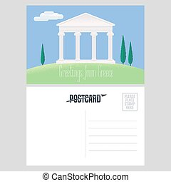 Athens acropolis vector illustration