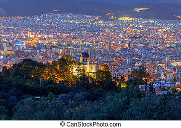 Athens. Aerial view of the city.