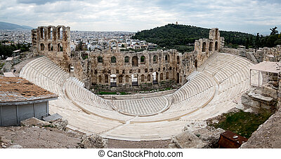 Athens Amphitheater - An amphitheater in Athens, Greece.