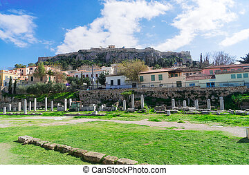 Athens and Acropolis - The Ancient Agora and Acropolis hill,...