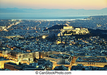 Athens by night.