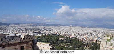 Athens cityscape view