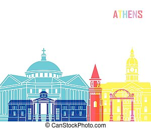 Athens GA skyline pop