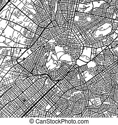 Athens Greece Vector Map