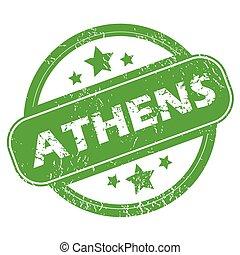Athens green stamp