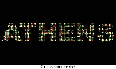 Athens led text