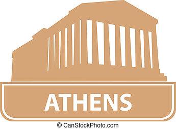 Athens outline. Vector illustration for you design