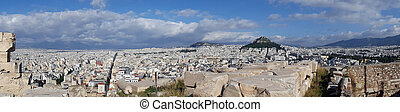 Athens panoramic view from Acropolis