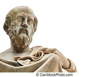 athens., plato, estatua