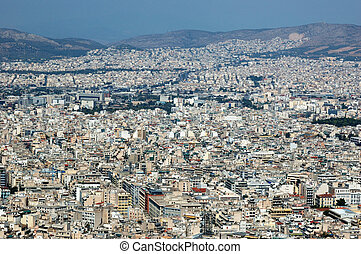 Athens roofs panorama ,Greece