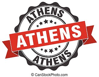 Athens round ribbon seal