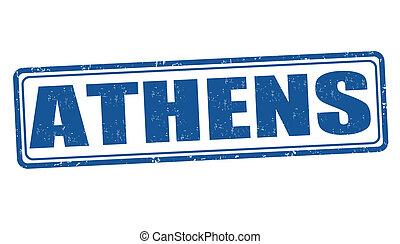 Athens stamp