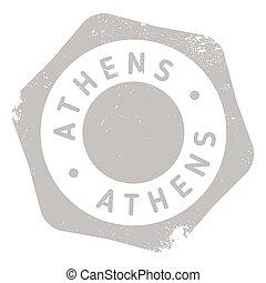 Athens stamp rubber grunge
