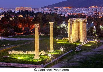 Athens. Temple of Zeus.