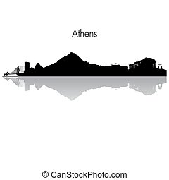 Athens vector skyline