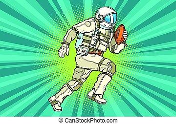 athlète, football, astronaute, américain