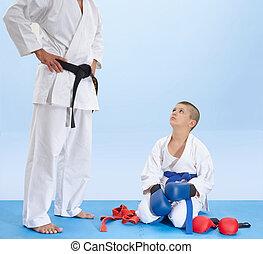 athlète, instruction, écoute