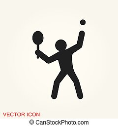 athlète, isolé, illustration, vecteur, fond, icône