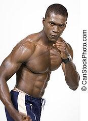 athlète, noir