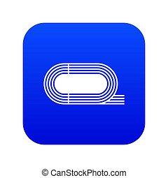 athlétique, bleu, icône, stade, numérique