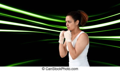 athlétique, boxe, femme