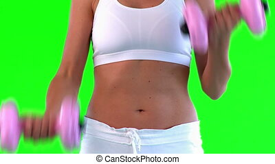 athlétique, femme, exercice