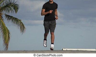 athlétique, joggeur, adulte mâle