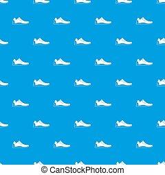 athlétique, modèle, bleu, chaussure, seamless