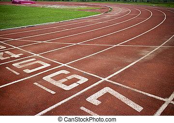athlétique, piste