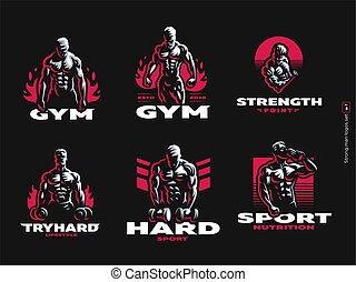 athlétique, sport., sportif, man.