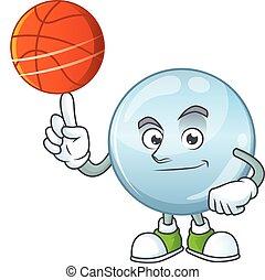 athlétique, style, basketball jouant, gouttelettes, ...