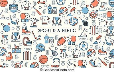 athlétisme, bannière, sports