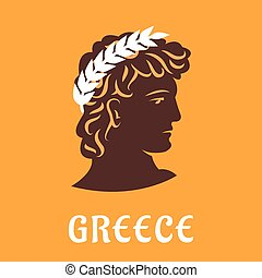 athlet, uralt, olive, gewinner, griechischer , kranz
