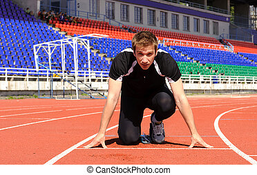 Athlete at the start