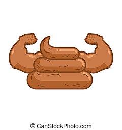athlete., auspumpen, starke , shit., groß, muscles., stinkende, turd, hands.