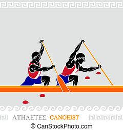 Athlete canoeist