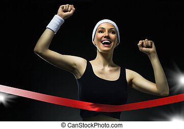 victory - Athlete celebrates victory